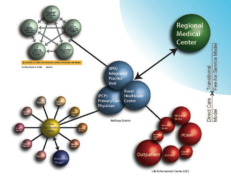 direct care model graphic